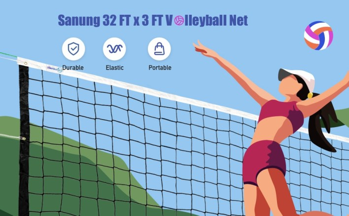 Sanung 32FTx3FT Volleyball net