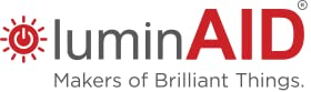 LuminAID logo with words: Makers of brilliant things