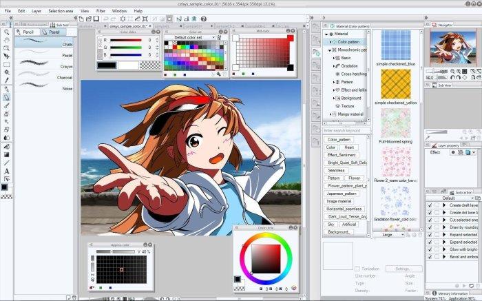 Clip Studio Paint EX 1.8.4 + Materials Free Download
