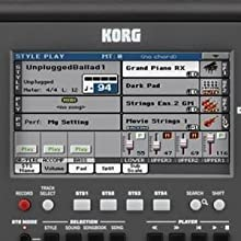 Korg Pa600 is easy to use.