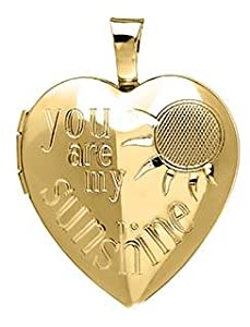 14K gold filled heart locket pendant
