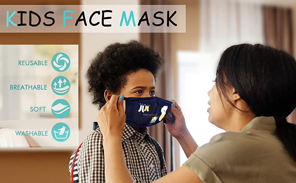 pollution kids mask face charcoal charcol masks hair activated  facemask  dust  reusable washable