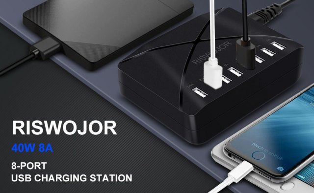 multiple USB charger station