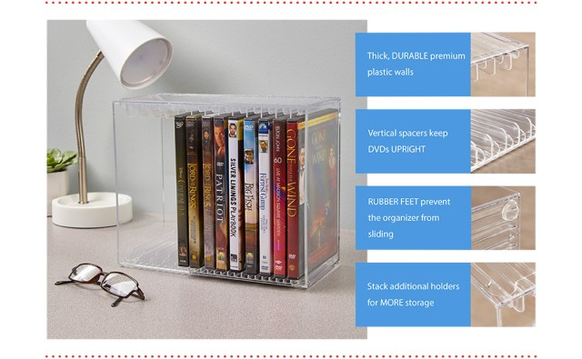 stackable dvd holder