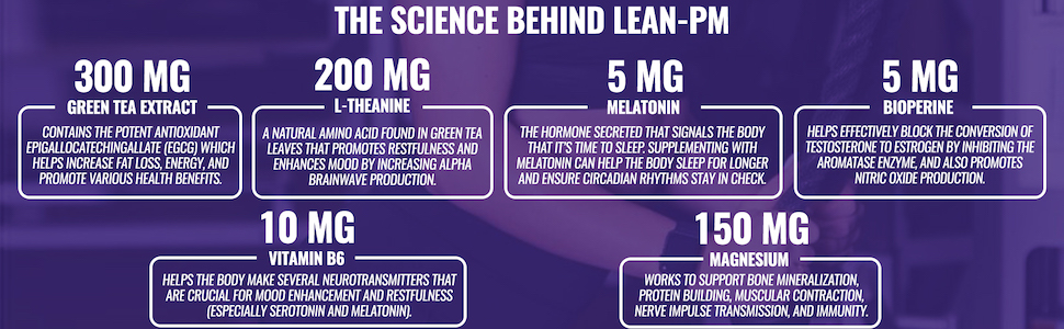 Green Tea Extract, L-Theanine, Vitamin B6, Melatonin, Magnesium, & BioPerine Extract