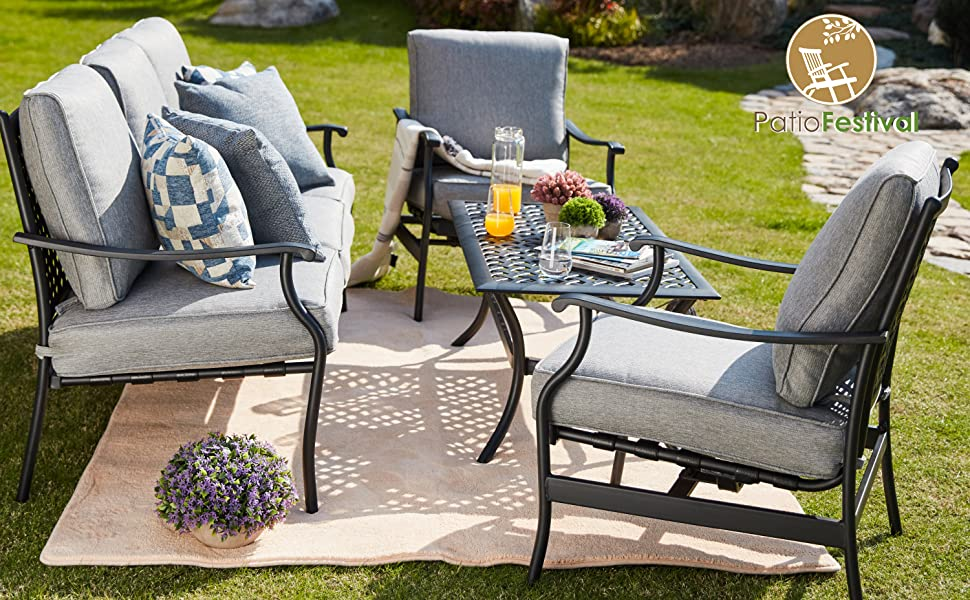 outdoor patio furnture conversation set heavy outside patio furniture sets clearance