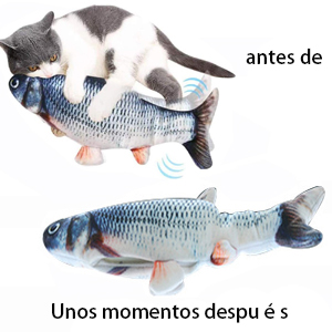 Juguete para gatos con peces en movimiento