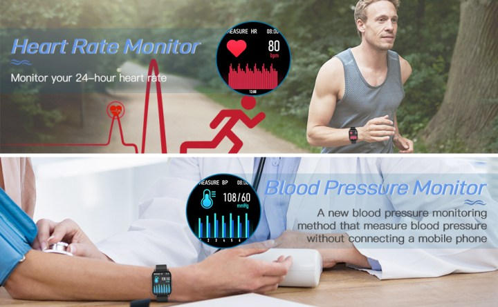 fitness tracker with blood pressure monitor,smart watch android compatible ,bluetooth smart watch