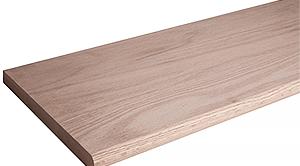 Red Oak 8070 13X60 Inch Bullnosed Wood Tread For Stair Remodel | Prefab Oak Stair Treads | Red Oak | Hardwood Flooring | Stair Parts | Stain | Floating Staircase