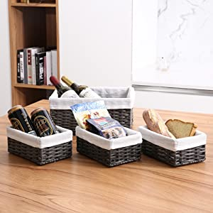 Storage baskets set for kitchen