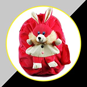 B07CX81BFH-  Blue Tree Soft Material School Bag for Kids Plush Backpack Cartoon Toy- SPN FOR-1