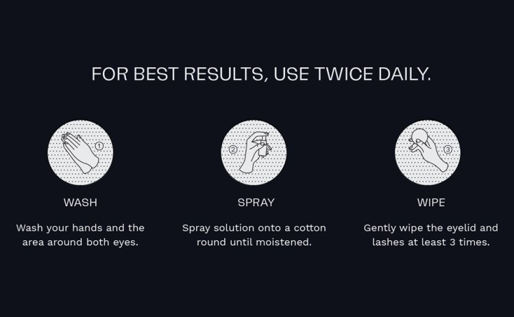 Avenova Antimicrobial Eyelid and Lash Cleanser – Soothing Formula, Effective Relief from Irritation, Dry Eyes, Styes and Blepharitis, Pure and Gentle Hypochlorous Acid Spray, 20mL (0.68 oz)