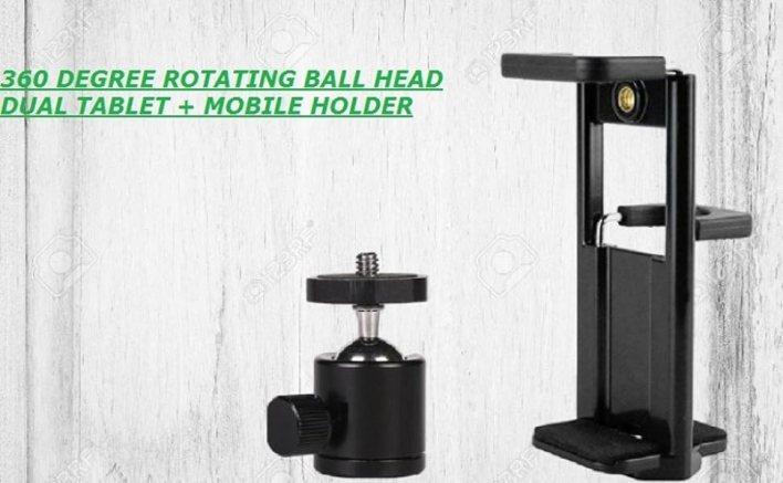 TRIPOD STAND MOBILE HOLDER FOR IPAD TABLET BROAD LONG WIDE PHONE BIG MOUNT ADAPTOR CLIP HOLDER SELFI