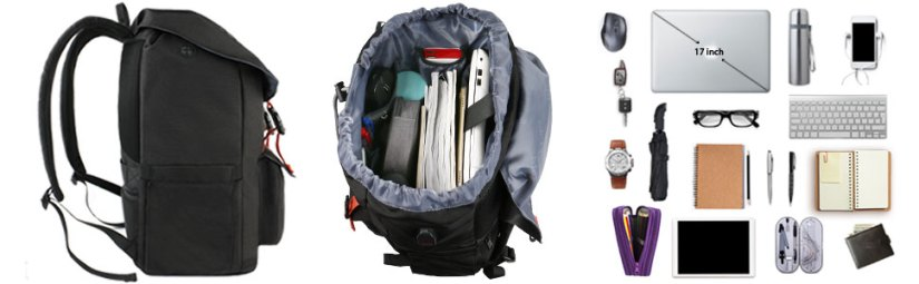 17 inch Large College School Bookbag