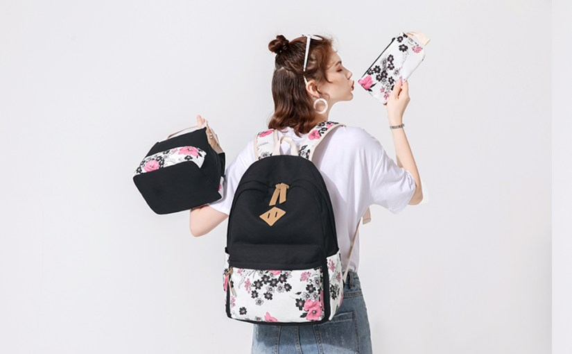 Canvas Floral Teen Backpacks for Girls