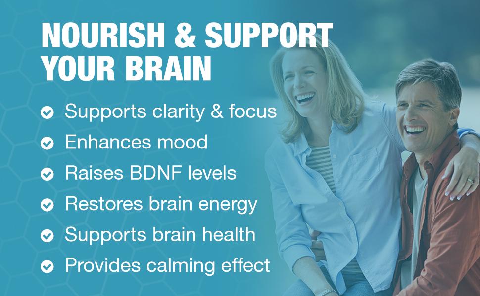 improve clarity and focus, enhance mood, raise bdnf levels, restore brain energy, brain health