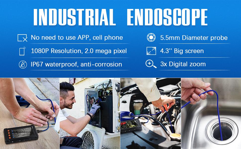 Dayanıklı Borescope Endoskop