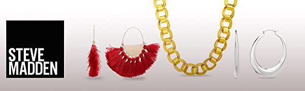steve madden jewelry fashion earrings necklace ring bracelet costume bold big statement chain hoop