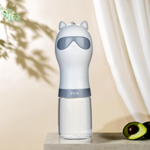 grey dog water bottle