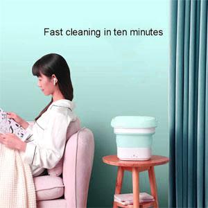 Mini Folding Washing Machine Electric Powered Portable Foldable High Powered Motor Compact bucket