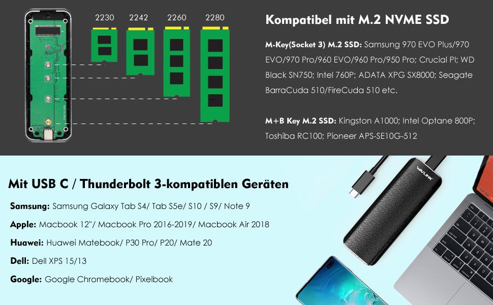 M-Key External SSD Case