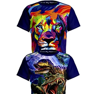 Dinosaur Lion King T-Shirts Combo Packs