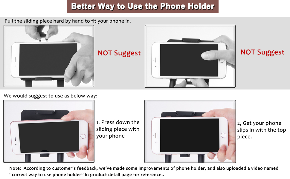 correct way to use the holder
