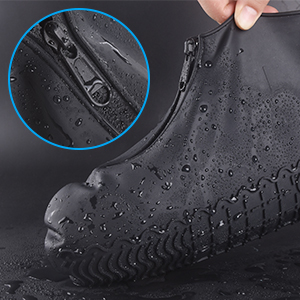 Easy to WearZippered Silicone Shoe Covers