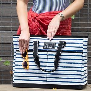 scout bj bag utility extra large big xl tote bag teacher bag nurse bag beach pool gift