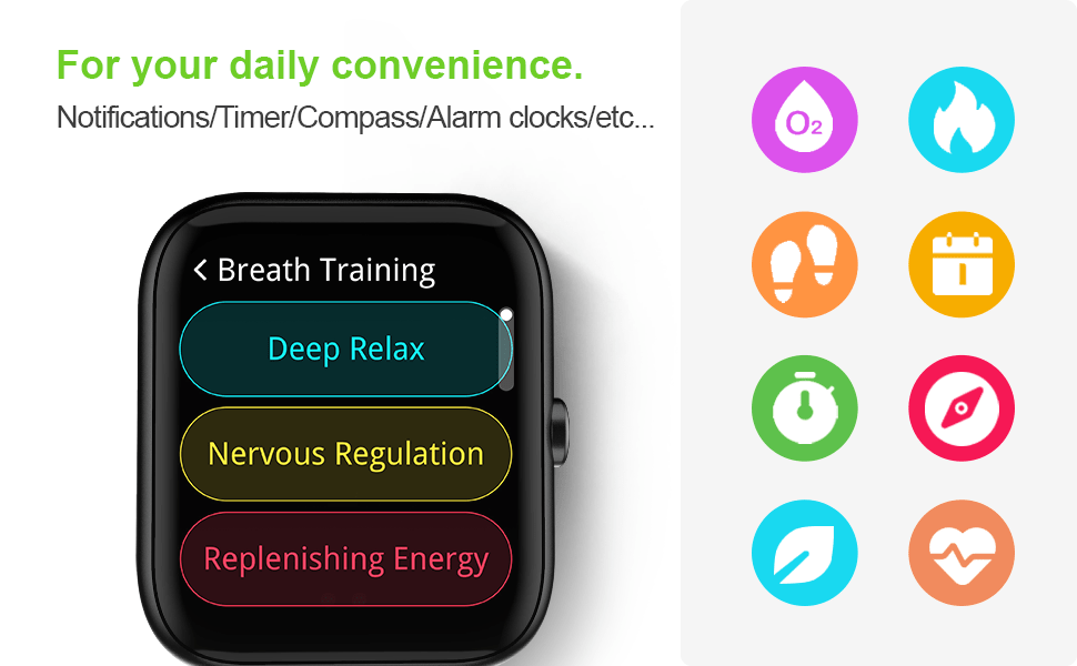 Smart Watch, Virmee Fitness Tracker 1.5 Inch Touch Screen with Heart Rate Meter Sleep Step Tracking
