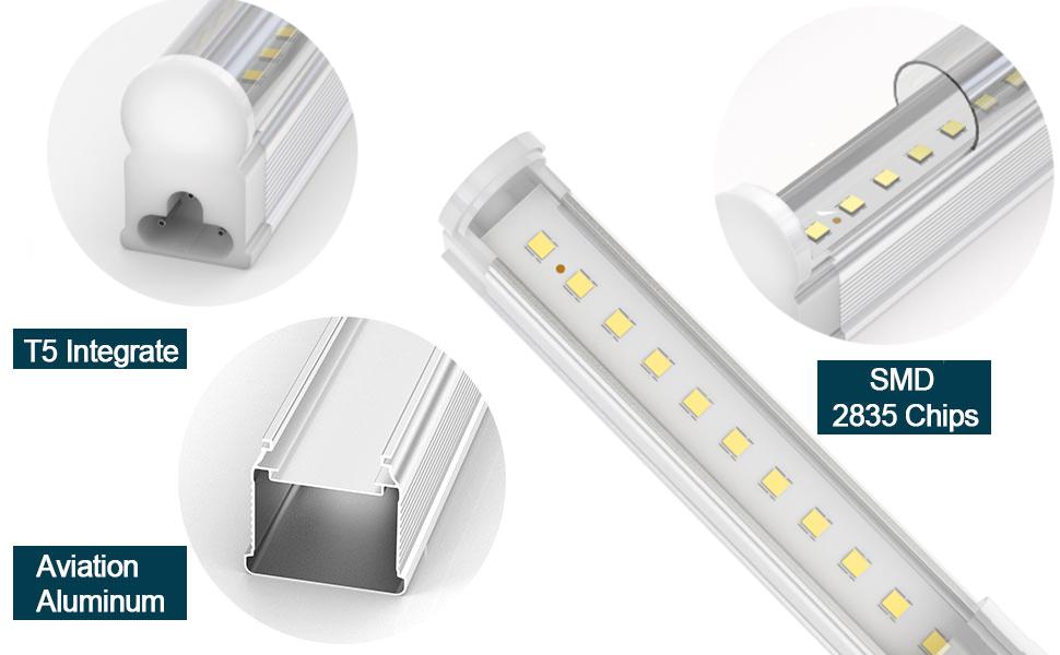 gfl linkable led shop for garage 4ft 6500k 24w-light B08HSZJFKR