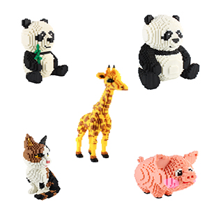 mini animal building blocks