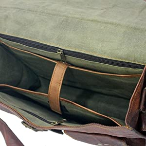 dark brown leather briefcase bag