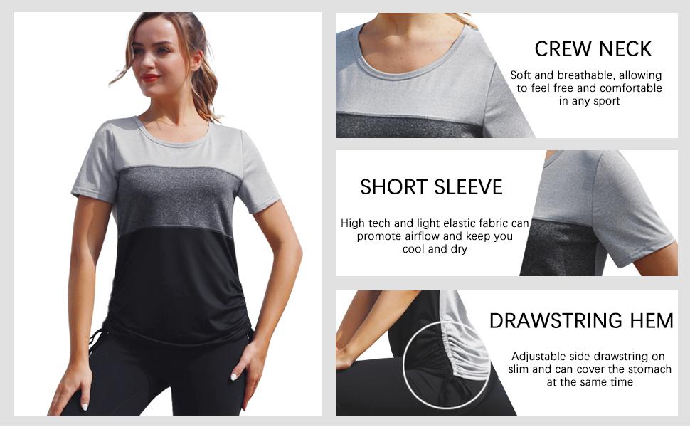 Women's Dri-Fit Running Shirts Workout Clothes