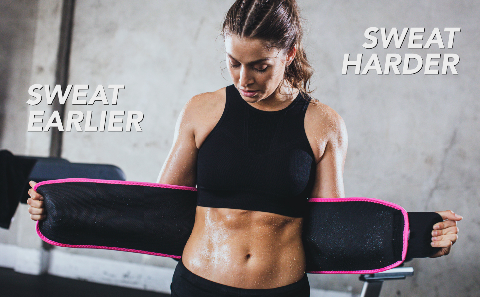 burn for fat and lose weight with the sweet sweat waist trimmer during exercise