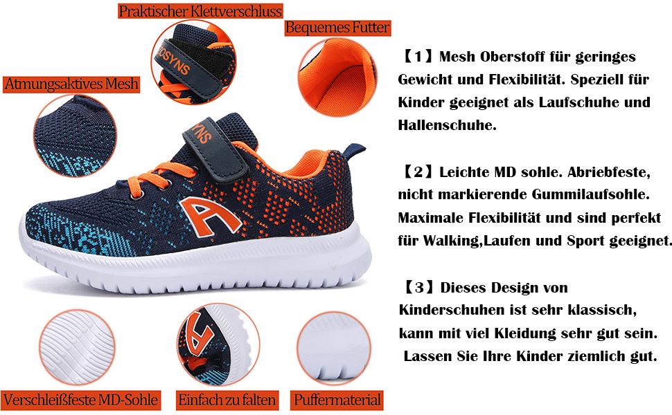 Kinder Schuhe Sportschuhe Mesh Laufschuhe Outdoor Sport Sneaker Turnschuhe  Hallenschuhe für Jungen
