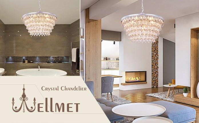 6 lights crystal chandelier