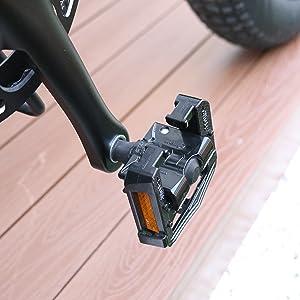 Foldable aluminum pedal