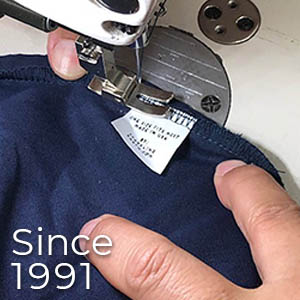 Tag sewn in