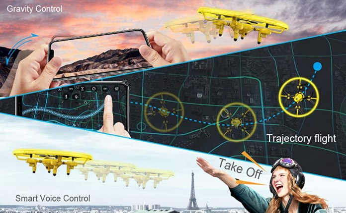 drone with mobile phone control