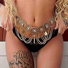 wedding belly chain