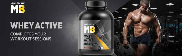 MuscleBlaze Whey Active - Completes your workouts