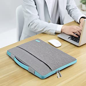 9 HSEOK Slim Laptop Sleeve 15 15.6 16 inches Case Water resistant Briefcase Gray