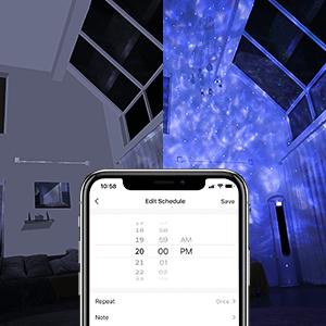starry night light projector