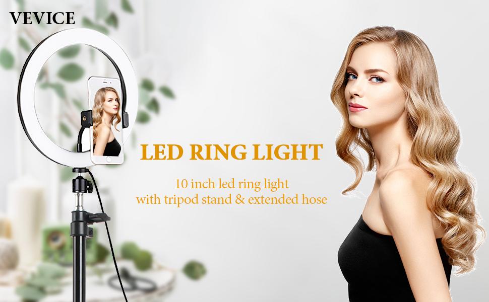 LED Ringlicht mit Stativ