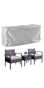 3 Pieces Outdoor Patio Furniture COVER