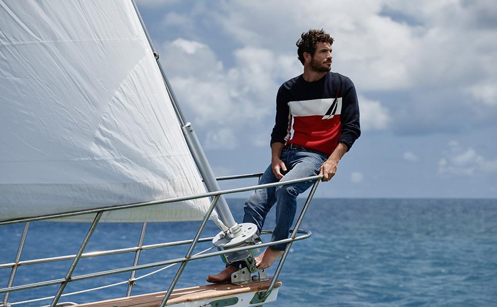 man boat sneakers footwear  Designer brand fashion foward sea water sail swim grip summer fall work