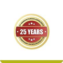 25 Years of Manufactuiring