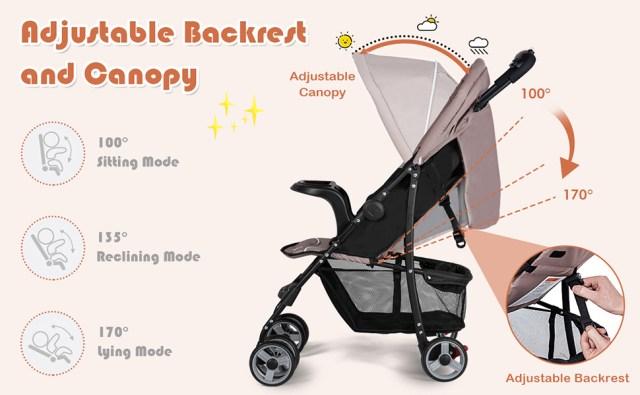 Lightweight Baby Stroller Fold-able