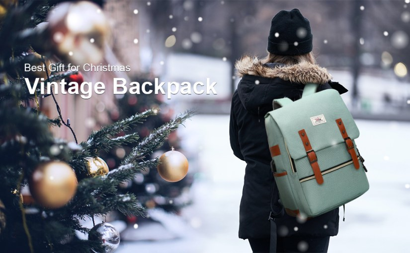 Laptop backpack for men women
